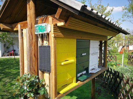 Čebelarska tehtnica nam pomaga izmeriti težo celotne kolonije